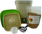 The Bokashi Bucket Food Waste Fermenter Kit with 2 lb Bokashi Bokashi Kit