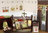Sweet Jojo Designs 9-Piece Woodland Forest Animals Owl Deer Tree Baby Boy Nature Bedding Crib Set