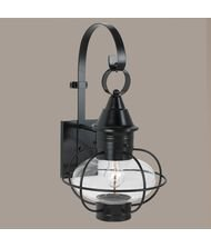 Norwell Lighting 1609-BL-CL New Vidalia Onion – One Light Outdoor Large Wall Mount, Glass Options: Clear Glass, Choose Finish: BL: Black