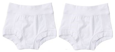 "Oops! Undies Waterproof Bamboo Underwear White Training Pants 2 Pack (Ages 4-5 Fits 17.5"" waist)"