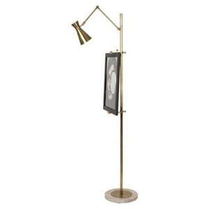 Robert Abbey 706 Lamps with Metal Shades, Antique Brass (Robert Abbey Brass Antique Floor Lamp)