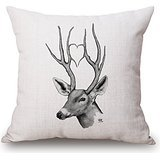 Alphadecor Pillow Cases Of Deer 18 X 18 Inches / 45 By 45 Cm,best Fit For Drawing Room,festival,dining Room,home,bf,chair 2 Sides
