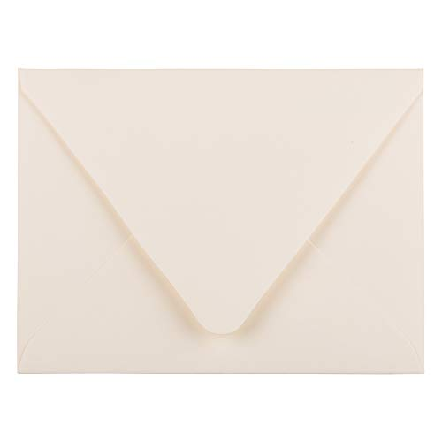 JAM PAPER A2 Invitation Envelopes with Euro Flap - 4 3/8 x 5 3/4 - Ivory - 50/Pack