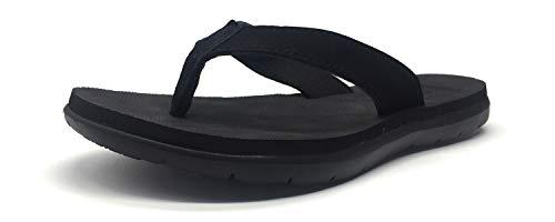 KuaiLu Women's Flip Flop Soft Padded Beach Sandals
