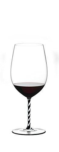 Riedel Fatto A Mano Bordeaux Grand Cru Wine Glass, Black/White (Glasses Pink Riedel Wine)