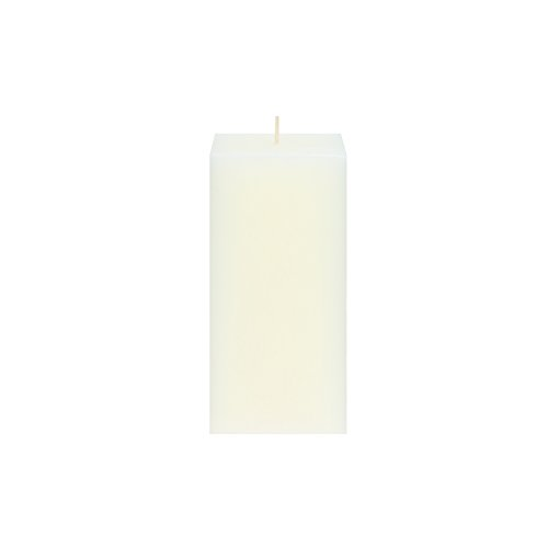 Square Wedding Pillar (Mega Candles Unscented Ivory Square Pillar Candle | Hand Poured Premium Wax Candles 3