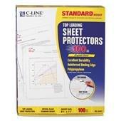 C-Line 62027 - Top-Load Polypropylene Sheet Protectors, Std Gauge, Letter, Clear, 100/Box