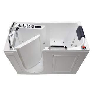 "27"" x 53"" Left Drain Air & Whirlpool Fully Loaded Walk In Bathtub 2753 White Tub"