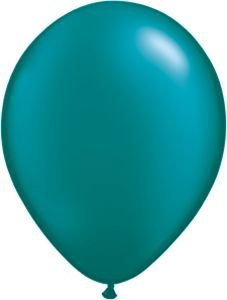 """Single Source Party Supplies - 11"""" Radiant Pearl Teal Latex Balloons - Bag of 10"""