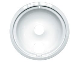 Range Kleen 1 Large Drip Bowl, Style B fits Plug-in Electric Ranges GE, Hotpoint, Kenmore, RCA, White Porcelain ()