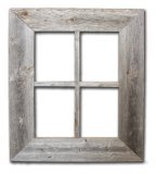 Old Rustic Window Barnwood Frames - Not For Pictures by Rustic Decor (Distressed Window Pane)