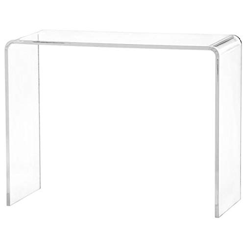 Acrylic Console Table with Waterfall Edge - Rectangular Console Table - Clear