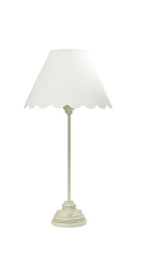 "S.H. International Contemporary style Table Lamp 18.5""H - Ivory"