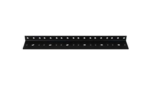 Penn Elcom R0828/06 Steel Rack Rail for Mounting Audio, Home Theatre, Recording Studio, PA Equipment, IT, One Pair Tapped and Thredded for 10/32 UNF, M5 or M6, 6 Rack Spaces (6U) ()
