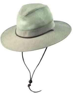 Dorfman Pacific 864M Men's Brushed Twill Safari Mesh Hat Loden Medium ()