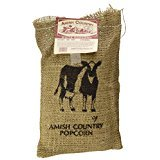 Amish Country Popcorn - 2 Lb Burlap Sack of Old Fashioned, Non GMO, and Gluten Free Medium White Popcorn - with Recipe Guide and 1 Year Freshness Guarantee by Amish Country Popcorn