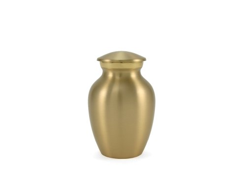 Near & Dear Pet Memorials Classic Pet Cremation Urn, 25 Cubic Inch, Brushed Brass