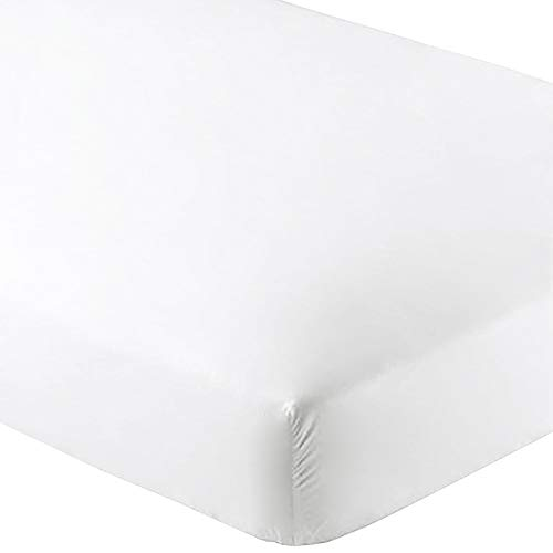 Bare Home Fitted Bottom Sheet Premium 1800 Ultra-Soft Wrinkle Resistant Microfiber, Hypoallergenic, Deep Pocket (Queen, ()