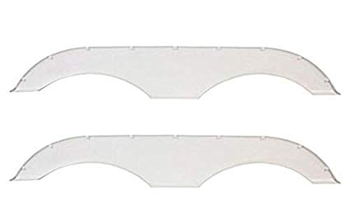Alpha Systems Pair of Tandem Trailer Fender Skirt - White