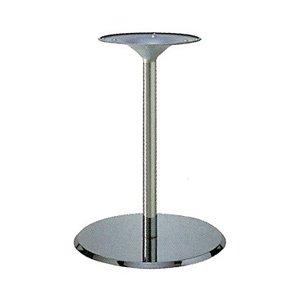 e-kanamono テーブル脚 フラットS7410 ベース410φ パイプ42.7φ 受座280φ クロームメッキ 高さ700mmまで B012CCACUG