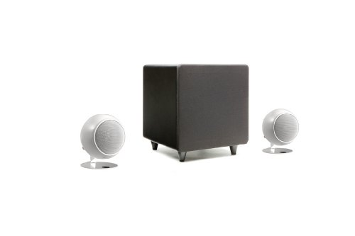 - Orb Audio mini Classic One 2.1 Stereo Speaker System (Pearl White Gloss)