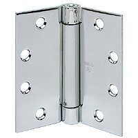 STANLEY 2060R 4 5X4 5 26D STL Spring Door Hinge, Satin Chrome, Steel, 5