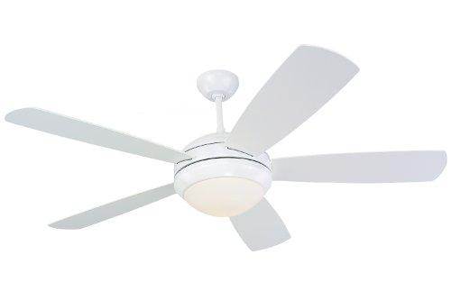 """Monte Carlo 5DI52WHD-L, Discus, 52"""" Ceiling Fan, White"""