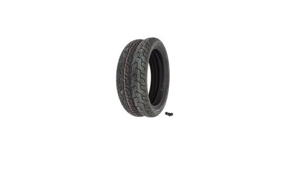 Dunlop D404 Tire Set Tires and Valves Compatible with Honda CB750C CB900C