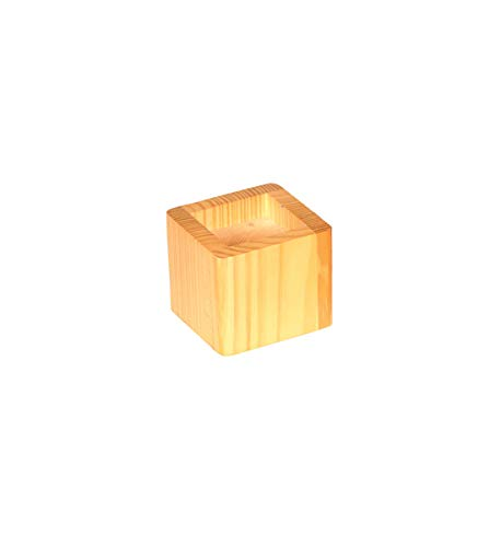 Stacking Wood Bed Risers - K&A Company Stacking Wood Bed Risers - Natural Honey, 4.5
