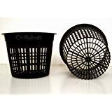 5 Inch Round Orchid/Hydroponics Slotted Mesh Net Pot - 10 Pack (Round Pond Basket)
