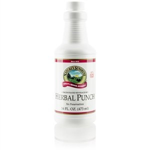Herbal Punch with Vitamins Nutrients and Fruit Extracts - 16oz