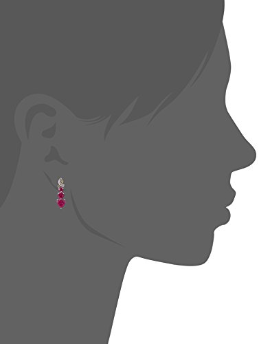 Sterling-Silver-and-14k-Yellow-Gold-Diamond-and-Heart-Shaped-Created-Ruby-Drop-Earrings-001cttw