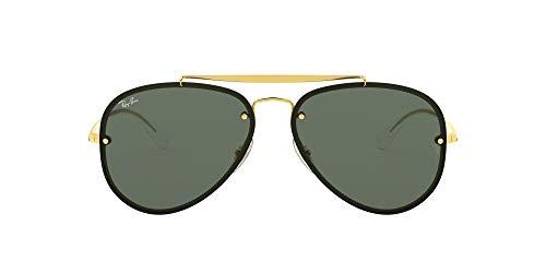 Ray-Ban RB3584N Blaze Aviator Sunglasses, Gold/Dark Green, 58 mm (Ray Ban Aviator Sonnenbrillen)