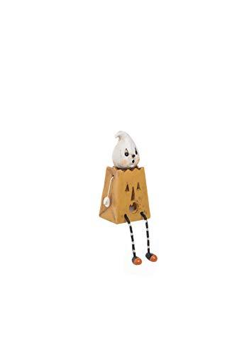 Transpac Imports D0830 Resin Light Up Treat Bag Shelf Sitter Decor, Orange]()