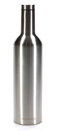 - Trendiware Double Wall Vacuum Sealed Stainless Steel Wine Bottle 750 ml - Color Stainless Steel