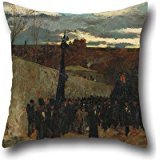 - 18 X 18 Inches / 45 By 45 Cm Oil Painting Ramon Tusquets - Burial Of Fortuny Cushion Cases ,2 Sides Ornament And Gift To Lounge,couch,floor,bar Seat,dance Room,couples