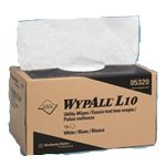 Wypall L10 Utility Wipe, Pop-Up Box, 9''X10.25'', White, 18 Boxes Of 125 Wipes