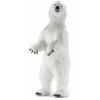 Hansa Life Size Standing Polar Bear Plush Stuffed Animal -