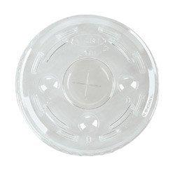 Dart Container L24C Plastic Flat Lids w/Straw Slot for 12/16/24 Oz Cups (DCCL24C) Category: Cup Lids