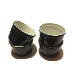 BIA Cordon Bleu (Set of 4) - 12 oz. Porcelain Ramekins Bowls 12 ounce (Blue) by BIA Cordon Bleu (Image #1)
