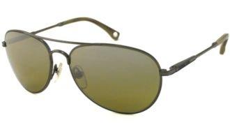 147 Sunglasses - Michael Kors Breckenridge MKS 147 55 mm Gunmetal Frame/Olive Lens Sunglasses