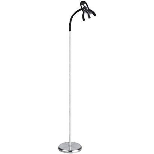(Lite Source LS-8530PS/BLK Henrik Metal Floor Lamp, Polished Steel with)