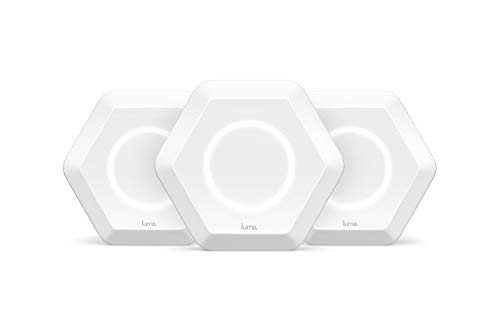 Luma Whole Home WiFi (3 Pack - White) - Replaces WiFi Extenders and Routers, Free Virus Blocking, Free Parental Controls, Gigabit Speed (Certified Refurbished)