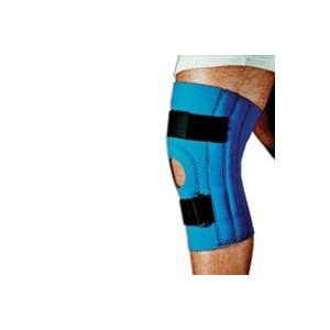 Sportaid Knee Brace (Sportaid, Knee Brace, Open Patella, Blue Neoprene, Large, 15-17 inches - 1 ea)