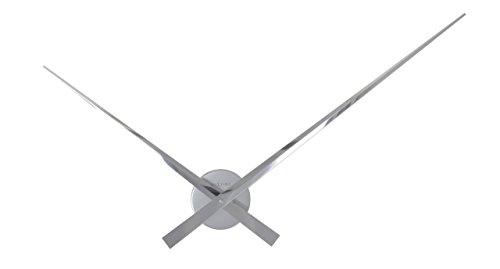 Unek Goods NeXtime Hands Wall Clock, Chrome, Battery Operated