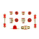 Andersen Restorations Red Polyurethane Front End Suspension Bushings Set Compatible with Pontiac Firebird Trans Am