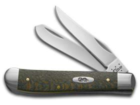 (Case Cutlery 10294 Mini Trapper Sycamore Wood Pocket Knife with Stainless Steel Blades, Smooth Gray)