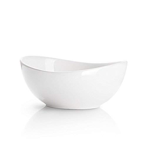 Sweese 1105 Porcelain Bowl - Set of 1-28 Ounce for Cereal, Salad and Desserts, White ()
