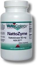 Nutricology Nattozyme 50 Mg, Vegicaps, 300-Count