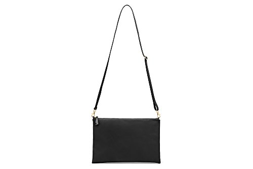Xenia Crossbody, Designed and made in the USA using Genuine Italian Leathers (Black)
